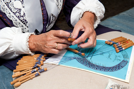 craftswoman: Embroidery by a craftswoman