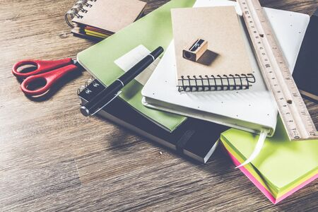 School or business concept with agenda. Education background Stok Fotoğraf