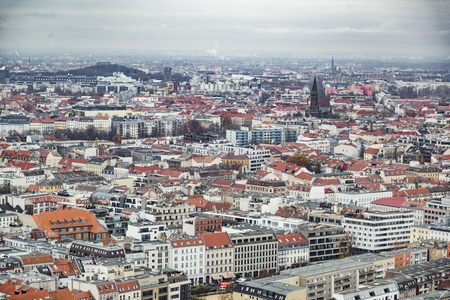 Beautiful top cityscape view of Berlin, Germany Stock Photo