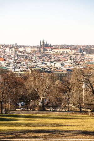 Scenic view of historical center of Prague city Stok Fotoğraf