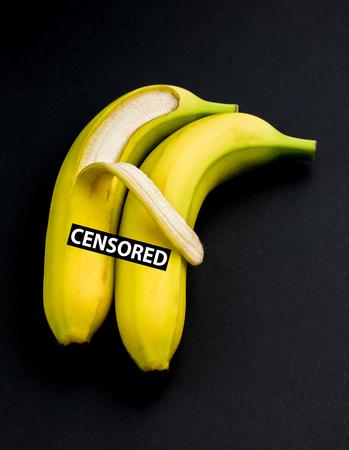 Bananas in Sexual Embrace Archivio Fotografico - 123345802