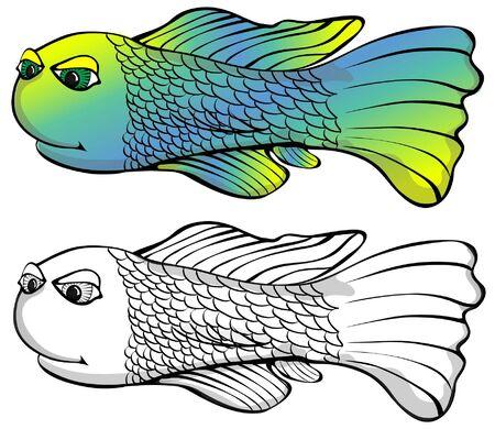 Eine lange torped geformte Fische, schwimmt