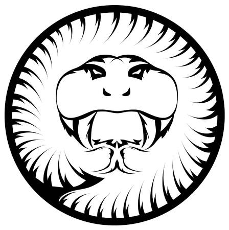 A hypnotic illustration of a mamba snake