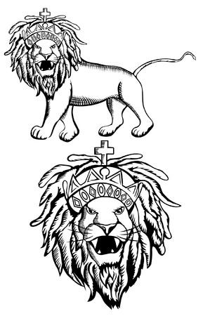 Ein Rastafari L�we von Juda Darstellung Illustration