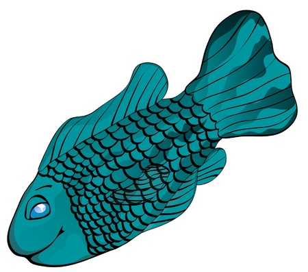 A friendly tropical fish  Illustration