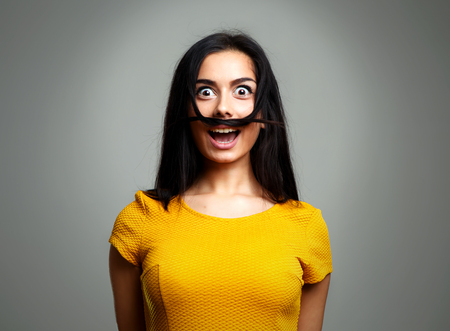 Funny Woman Making Funny Silly Face