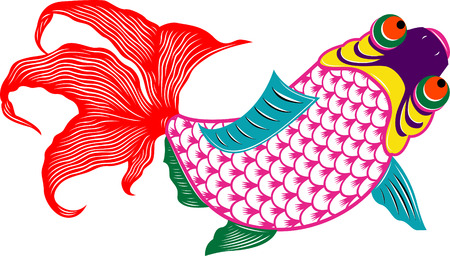 oriental colorful fish Vector