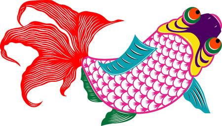 oriental colorful fish Vector