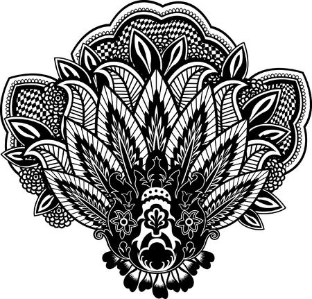 paisley illustration Vector