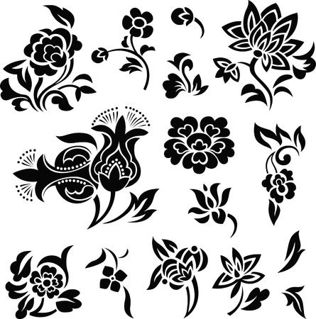 flower set illustration  Stock Vector - 7254910