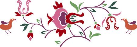 bird and flower emblem  Stock Vector - 7254908