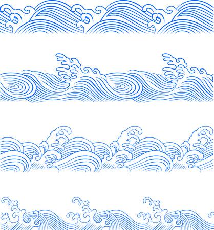 ocean wave set Stock Vector - 7271160