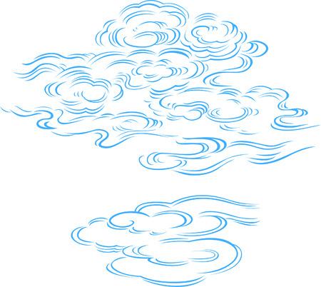 安らぎ: 雲のイラスト  イラスト・ベクター素材