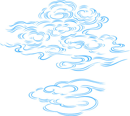 china landscape: cloud illustration  Illustration