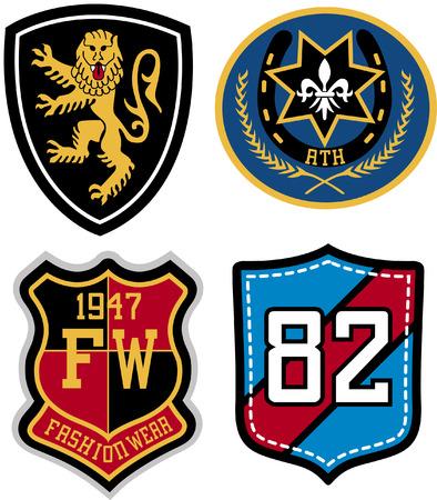 insignias: emblem badge design Illustration