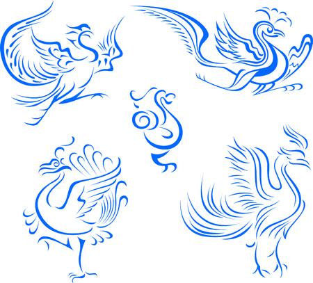 tribal bird illustration Vector
