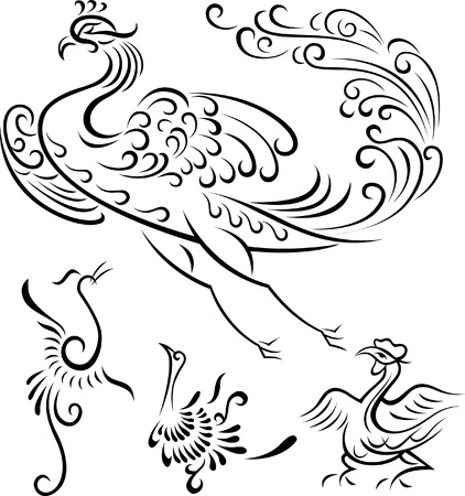 tribal bird illustration Vector