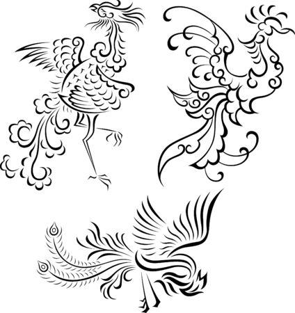tribal bird illustration Stock Vector - 7470646