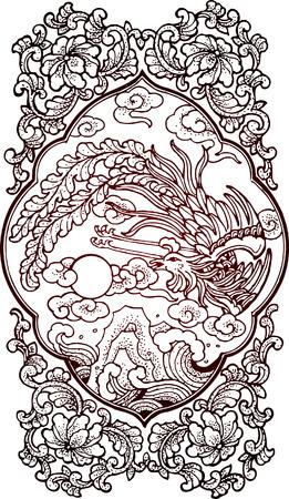 mythologie: klassische Vogel-design