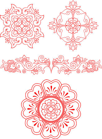 motif floral