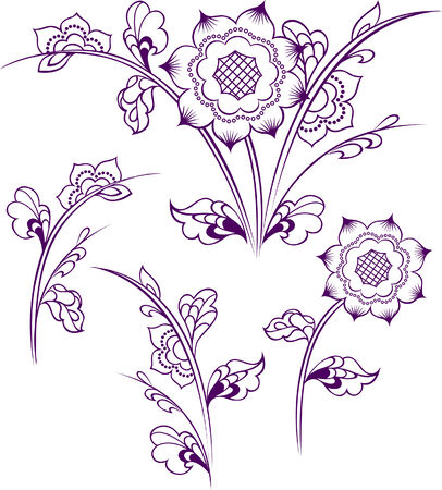 flower pattern design Vector