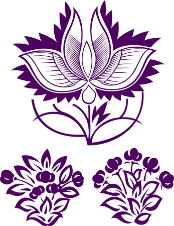 Diseño de patrón de flor  Foto de archivo - 7661658