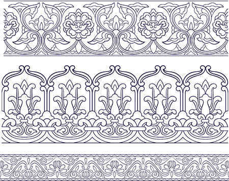 symmetrical design: floral pattern Illustration