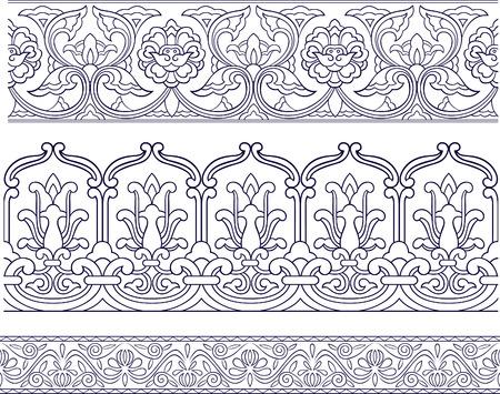 ribetes: patr�n floral