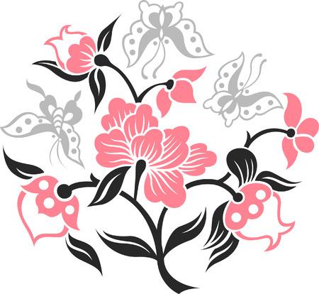 Mariposa y planta elegante  Foto de archivo - 7661670