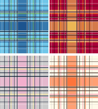 plaid fabric textile pattern Vector