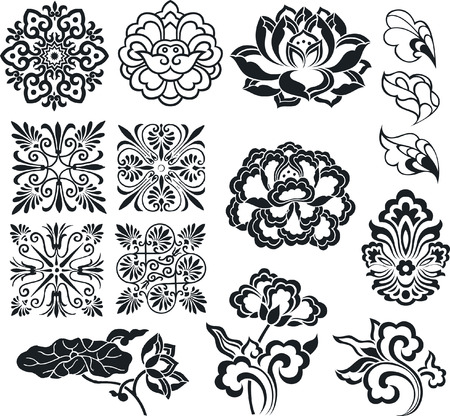flower element set design Stock Vector - 7796716