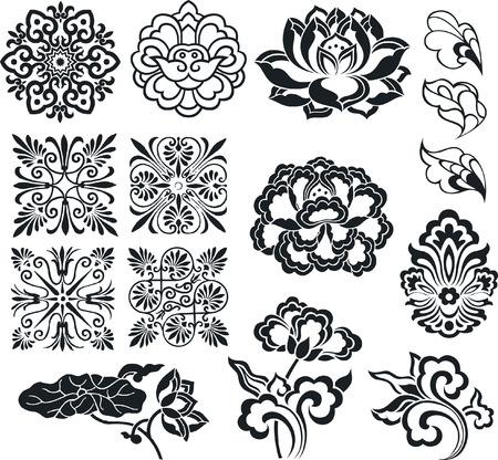 flower element set design Vector