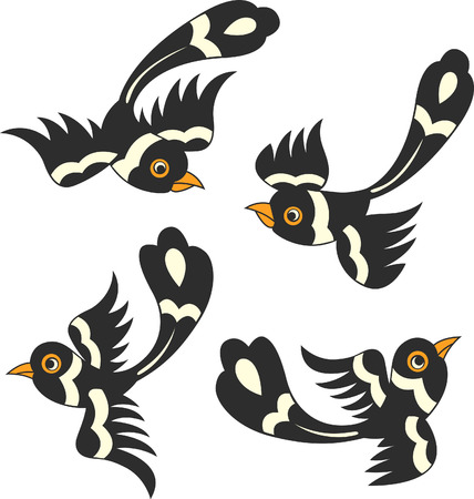 golondrinas: dise�o de dibujos animados de ave  Vectores