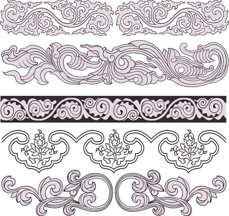 Floral Scroll Ornate Element Vector