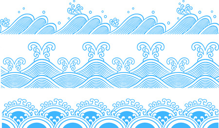 high sea: Ocean Seamless pattern