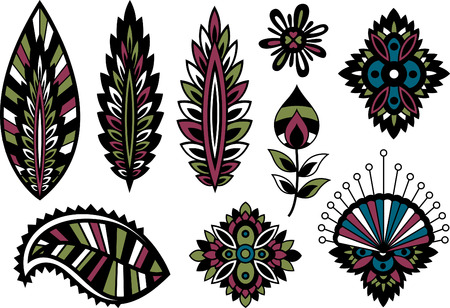 Plant Leaves Set Vector