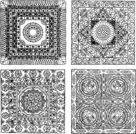 east indian: indian style background design Illustration