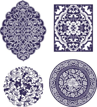 ontwerp met oosterse bloemen