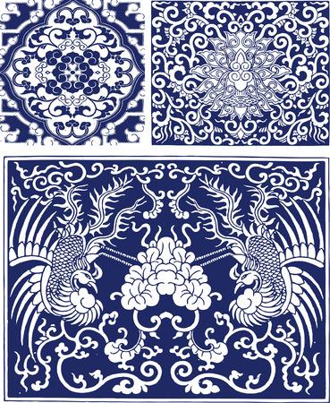oriental phoenix background design Stock Vector - 7821519