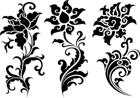 oriental flower design Stock Vector - 7821435