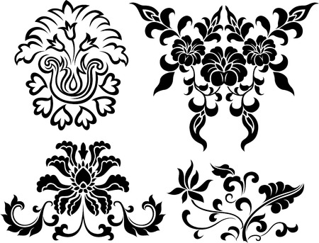 nouveau: oriental flower design Illustration