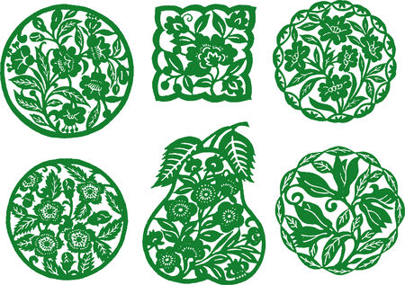 oriental flower design Vector