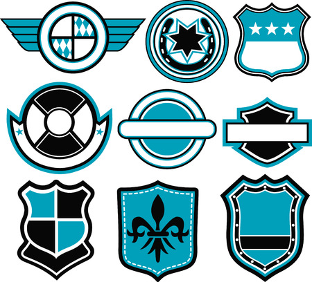 military shield: emblem badge template