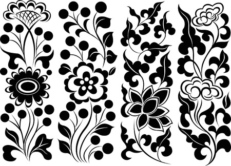 nouveau: decorative floral ornament design Illustration