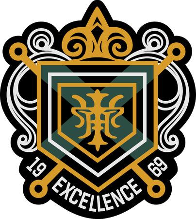 crests: Royal emblema distintivo scudo  Vettoriali