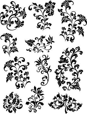 decorative branch set  Stock Vector - 7936490