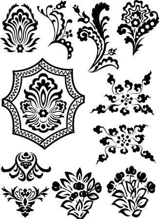 decorative branch set Stock Vector - 7936492
