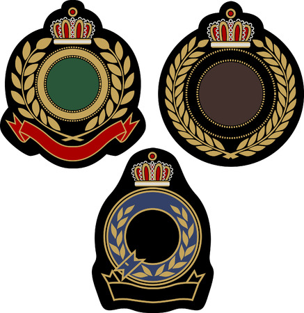 academy: classical insigina emblem badge shield Illustration