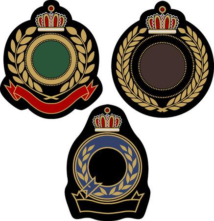 classical insigina emblem badge shield