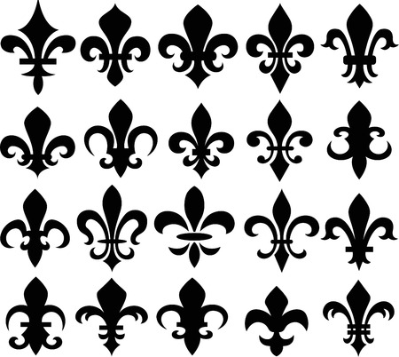 new orleans: fleur de lys shield symbol Illustration